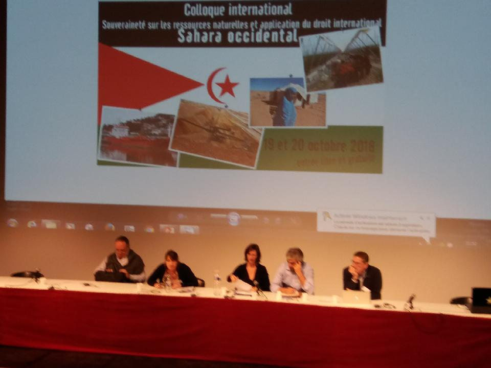 octobre 2018 : colloque international pour le Sahara Occidental
