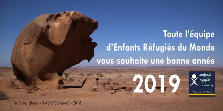 Toute l'équipe d'Enfants Réfugiés du Monde vous souhaite une très bonne année 2019 !
