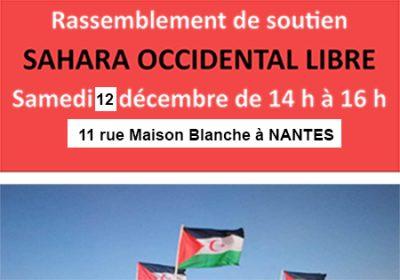 Rassemblement de soutien au Sahara Occidental le 12 décembre 2020 à Nantes